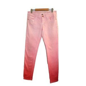 Dollhouse Pink Ombre Mid Rise Skinny Jeans Size 7